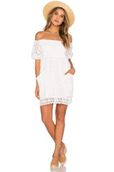 Tularosa Quinn Smocked Dress White
