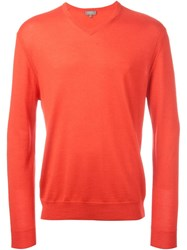 N.Peal 'The Conduit' V Neck Sweater Red