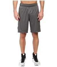 Nike Elite Stripe Short Charcoal Heather Black Metallic Silver Men's Shorts Gray