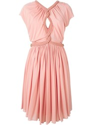 Jay Ahr Rope Detail Dress Pink And Purple