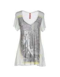 Met Topwear T Shirts Women Grey