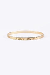 Top Shelf Forget Me Not Bangle In Gold At Urban Outfitters