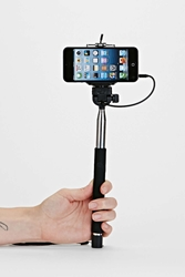 Urban Outfitters Selfie Click Stick Black