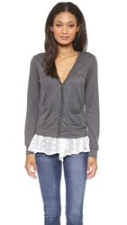 Clu Scarf Detailed Cardigan Charcoal