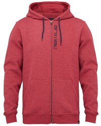 Animal Zip Through Hoody Red
