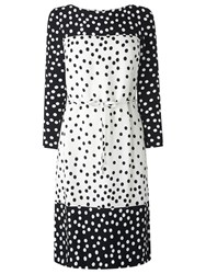 Lk Bennett L.K. Gina Polka Dot Dress Black Cream