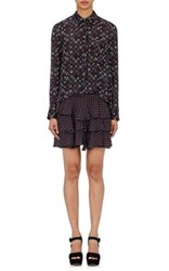 Derek Lam 10 Crosby Women's Embroidered Charmeuse Blouse Ivory