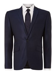 Kenneth Cole Pinsent Wool Silk Tonic Jacket With Jet Pockets Blue