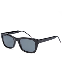 Thom Browne Eyewear Thom Browne Tb 405 Sunglasses Black And Dark Grey
