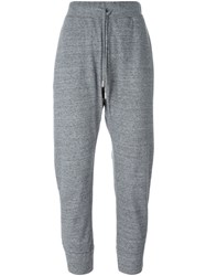 Dsquared2 Cropped Track Pants Grey