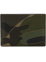 Valentino Garavani Camouflage Card Holder Green