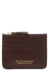 Scotch And Soda Business Card Holder Brown
