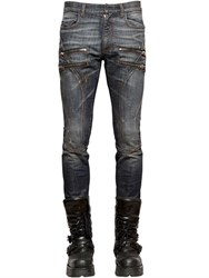 Faith Connexion 16Cm Distressed Stretch Zip Biker Jeans