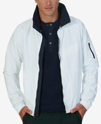 Nautica Solid Lightweight Bomber Jacket Bright White