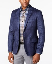 Tasso Elba Men's Microsuede Sport Coat Only At Macy's Navy Combo