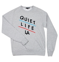 The Quiet Life Slant Crewneck Sweatshirt Heather Grey Huh. Store