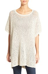 Women's James Perse Open Stitch Cotton And Linen Tunic