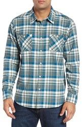 Quiksilver Men's Waterman Collection 'Red Eye' Herringbone Plaid Flannel Shirt