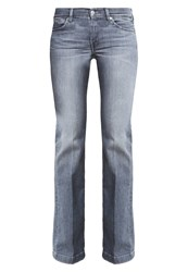 7 For All Mankind Charlize Flared Jeans Heather Grey Grey Denim