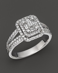 Bloomingdale's Fancy Cut Diamond Ring In 14K White Gold 1.00 Ct. T.W.
