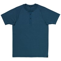 Denham Jeans Roy Henley Short Sleeve T Shirt Blue