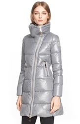 Moncler 'Joinville' High Collar Down Puffer Coat Fog