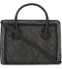 Aldo Treichel Snake Embossed Quilted Tote Black Multi