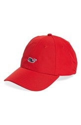 Vineyard Vines Men's Whale Performance Baseball Cap Red Lighthouse