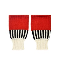 Margot And Me Short Fingerless Mittens Katie White Red