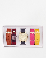 Aldo Markov Multi Strap Tartan Watch Multicolour