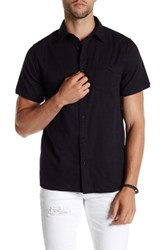 Threads For Thought Regular Fit Double Face Gauze Shirt Black