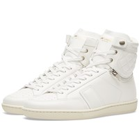 Saint Laurent 34H Quilted Sneaker White