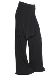 Kai Aakmann Draped Jersey Pants Black