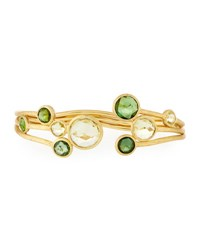 Marco Bicego Jaipur 18K Tourmaline And Lemon Citrine Bangle Bracelet