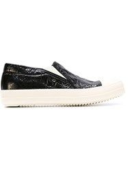 Rick Owens Drkshdw Creased Slip On Sneakers Black