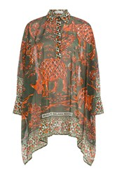 Valentino Printed Cotton Tunic Top Multicolor