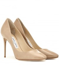 Jimmy Choo Esme 100 Patent Leather Pumps Beige