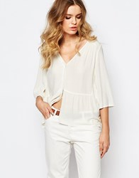 Baandsh Joris Blouse In Ecru White