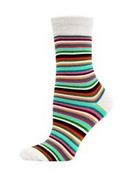 Hot Sox Striped Trouser Socks Natural