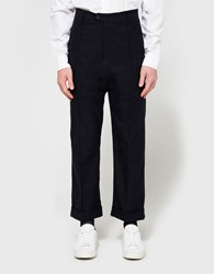 Camo Lampo Wide Trousers Navy