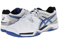 Asics Gel Resolution 6 Clay Court White Blue Silver Men's Tennis Shoes