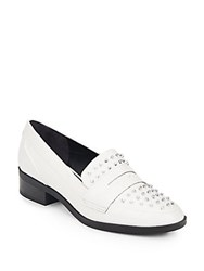 Sam Edelman Lali Studded Loafers Bright White