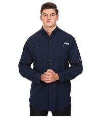Columbia Tamiami Ii L S Tall Collegiate Navy Men's Long Sleeve Button Up