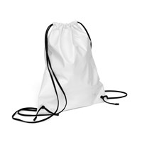 Xenab Lone White Patent Leather Mini Drawstring Backpack