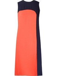 Andrea Marques Color Block Shift Dress Red