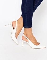 Asos Scorpio Pointed Heels White