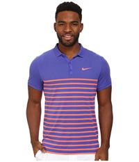Nike Advantage Dri Fit Cool Polo Persian Violet Hot Lava Men's Short Sleeve Pullover Pink