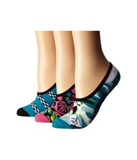 Vans Ripped Floral 3 Pack Black Women's Crew Cut Socks Shoes
