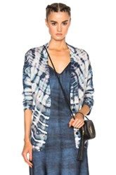 Raquel Allegra Shred Back Cardigan In Blue Ombre And Tie Dye Blue Ombre And Tie Dye