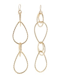 Devon Leigh 24K Gold Ep Multi Link Long Earrings